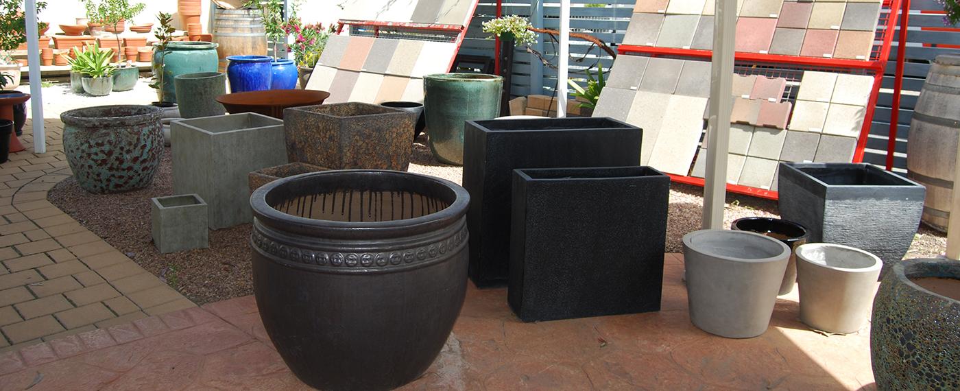 Wide range of pots & statues